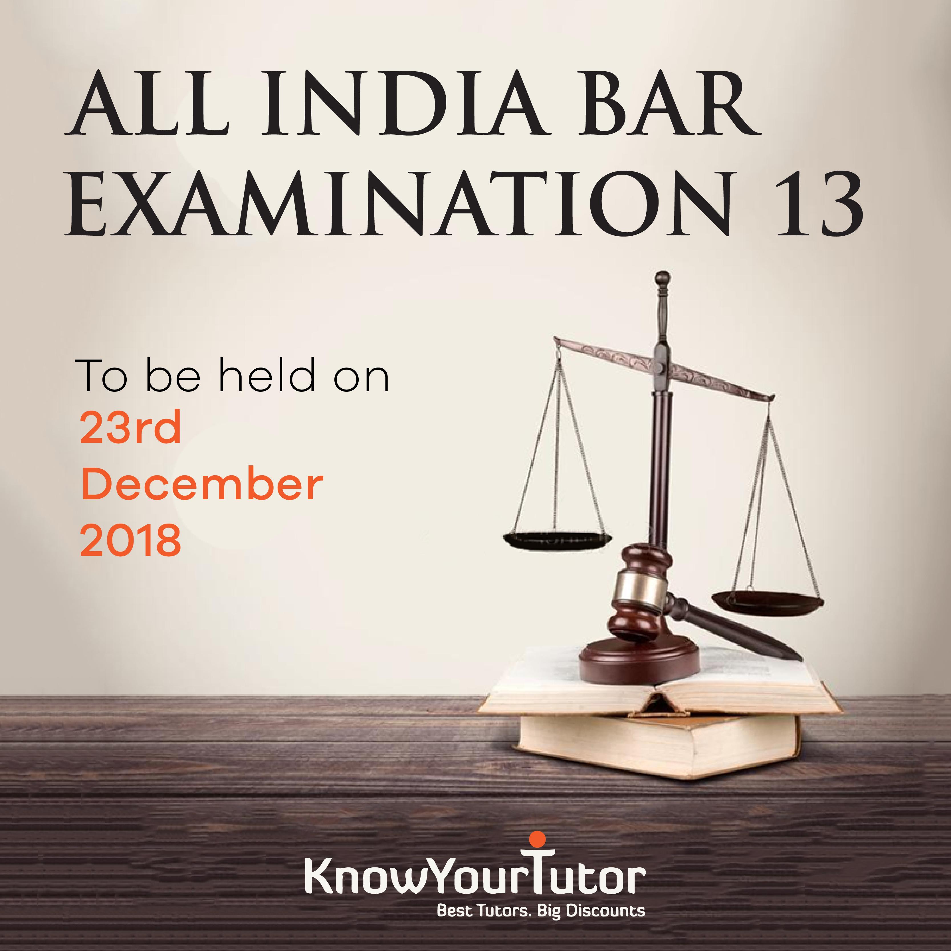 ALL INDIA BAR EXAMINATION XIII