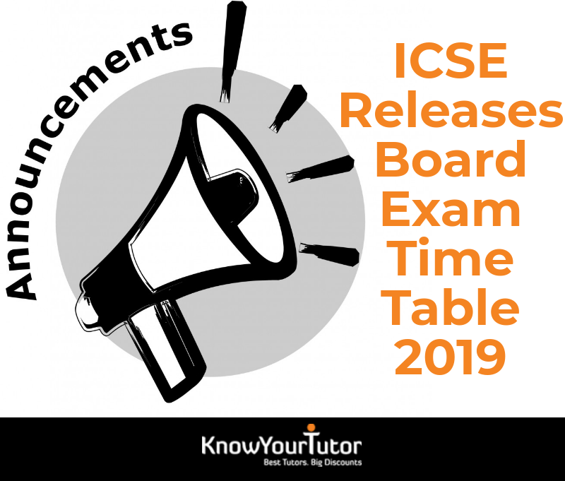 ICSE Releases Board Exam Time Table 2019