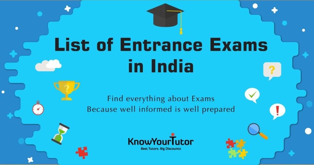 entrance exams in india