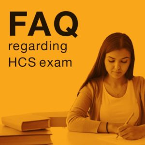 HCS Exam related student queries